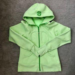 Light green scuba hoodie
